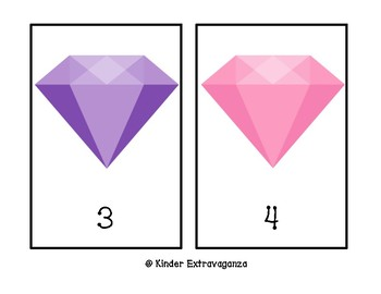 Colored Gems Counting Mats