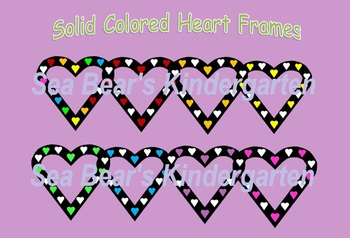 Colored Heart Frames Clip Art Graphics