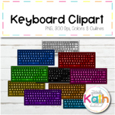 Colored Keyboard Clip Art / Clipart Teclados de Colores