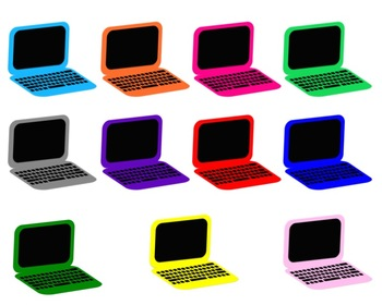 Colored Laptops Clipart