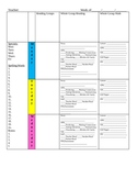 Colored Lesson Plan