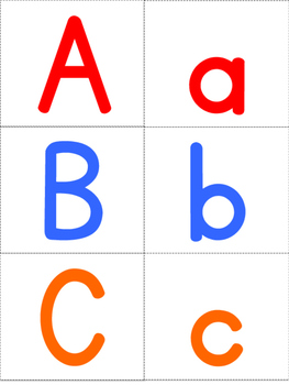Colored Letter Cards