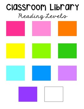 Colored Leveled Book Labels