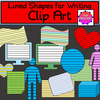 Colored Lined Shapes for Writing-Clip Art