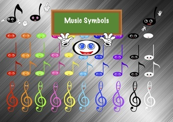 Colored Music Symbols