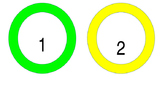 Colored Number Labels 1-25