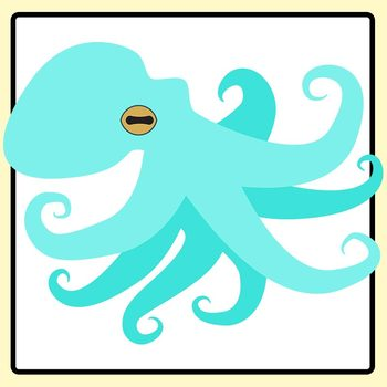 Colored Octopus Clip Art Set for Commercial Use