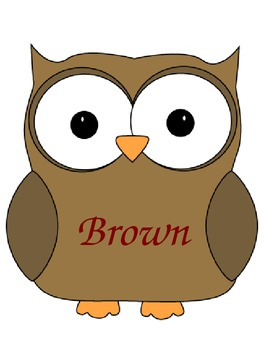 Colored Owls with Color Words