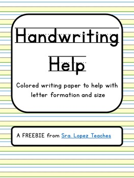 Colored Paper for Handwriting Help