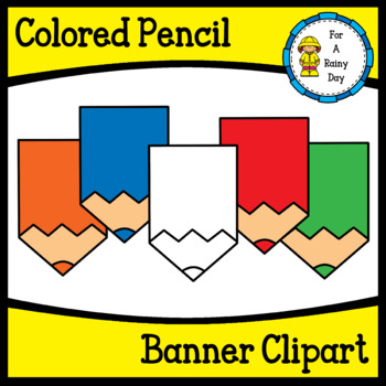 Colored Pencil Banner Clipart