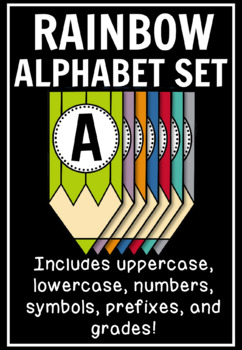 Colored-Pencil Banner Set: Letters, Numbers, Prefixes, & Grades (500+ Pages!)