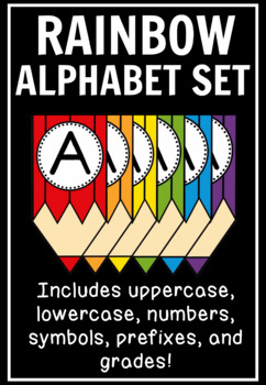Colored-Pencil Banner Set: Letters, Numbers, & Symbols (400+ Pages!)