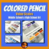 Colored Pencil Basics Value Scale Lesson