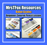 Art Beginner Colored Pencil Value Scales Drawing Middle or