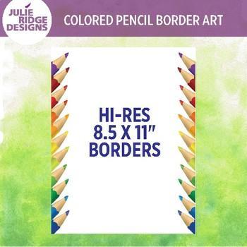 Colored Pencil Borders Clip Art