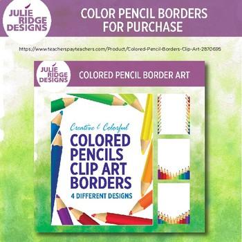 Free! Colored Pencil Borders Clip Art