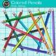 Rainbow Colored Pencil Clip Art {Back to School Supplies for Classroom Decor}