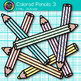 Colored Pencil Clip Art {Rainbow Glitter Back to School Supplies for Teachers} 3