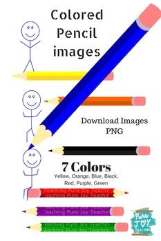 Colored Pencil Clip art images, PNG artclips