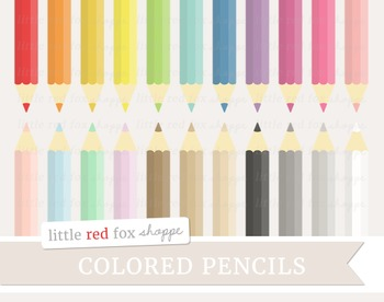 Colored Pencil Clipart; Art, Crayon