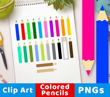 Colored Pencil Clipart, Artist Clipart, Art Tools Clipart, Drawing Clipart