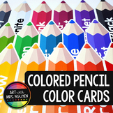 Colored Pencil Color Poster Cards