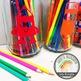 Colored Pencil Label SVG Design