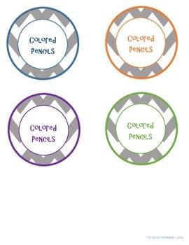 Colored Pencil Organization Labels