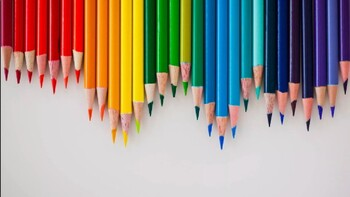 Colored Pencil PPT template