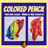 Colored Pencil Paint Blob
