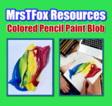 Art - Drawing Colored Pencil Paint Blob Middle or High Sch