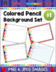 Colored Pencil Powerpoint Backgrounds Set