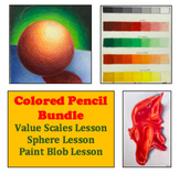 Art Drawing Bundle Intro to Colored Pencil for Middle or H