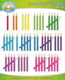 Colored Pencil Tally Marks Clipart {Zip-A-Dee-Doo-Dah Designs}