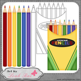 Colored Pencils 1 - Art by Leah Rae Clip Art & Line Art /