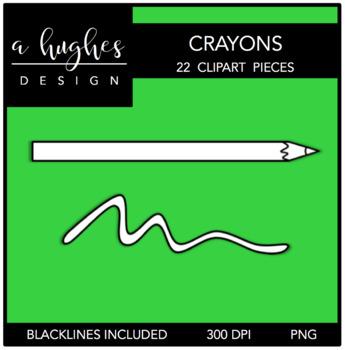 Colored Pencils 1 Clipart {A Hughes Design}
