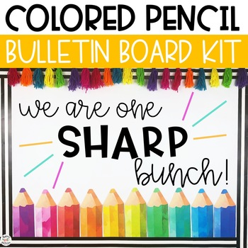 Colored Pencils Back To School Bulletin Board or Door Kit
