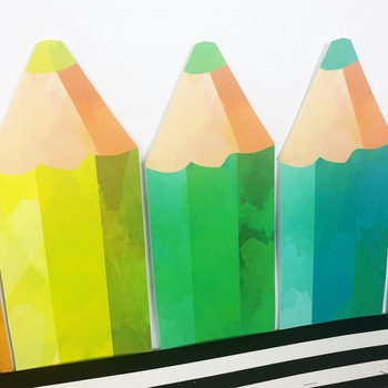 Colored Pencils Back To School Bulletin Board or Door Kit