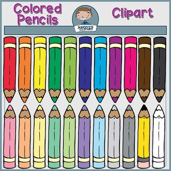 {Freebie} Colored Pencils Clipart
