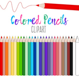 Colored Pencils Clipart - 27 Colors - Transparent Backgrou