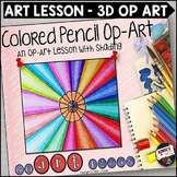 Colored Pencils Op-Art - An Art Lesson