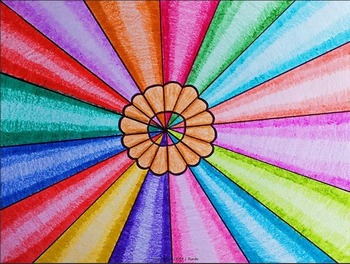 Colored Pencils Op-Art - An Art Lesson