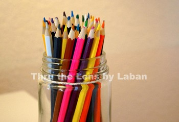 Colored Pencils in a Jar Stock Photo #175