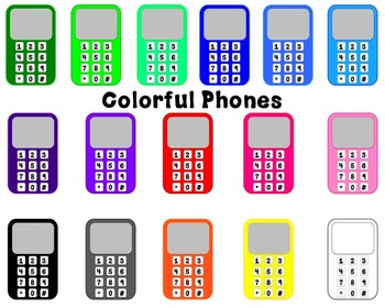 Colored Phones Clipart