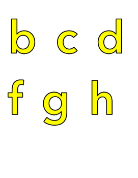 Color Coded Phonics Letters