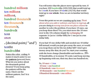 Colored Place Value Explanation mj