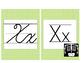 Colored Polka Dot Manuscript and Cursive ABCs