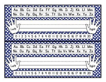 Colored Polka Dot Name Plates
