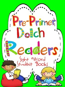 Colored Pre-Primer Sight Word Readers