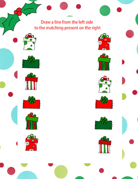 Colored Present Matching Worksheet